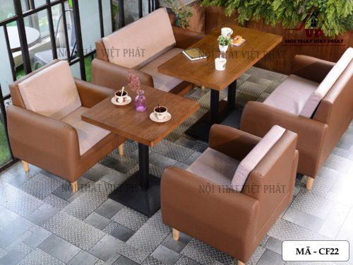 Bàn Ghế Cafe Giá Rẻ TPHCM - Mã CF22-2