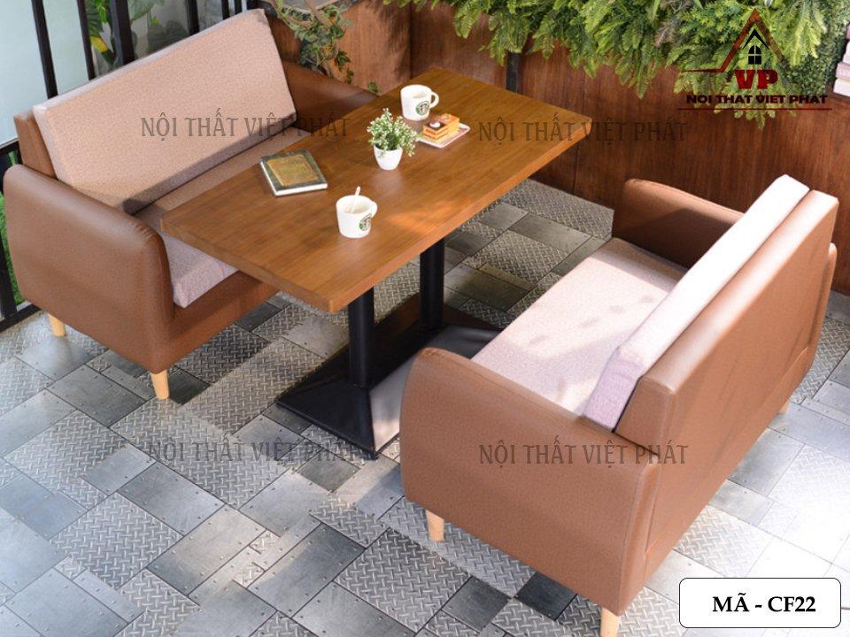 Bàn Ghế Cafe Giá Rẻ TPHCM - Mã CF22-3