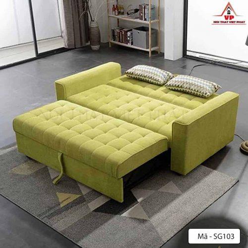 Ghế Sofa Bed Màu Xanh - Mã SG103