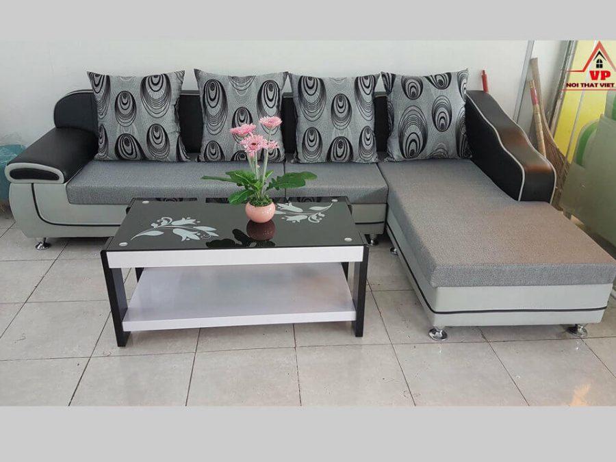 Ghế Sofa Da Kết Hợp Vải Giá Rẻ - Mã GR49