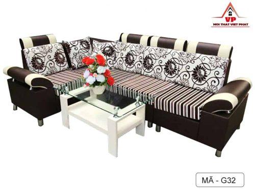Sofa Góc Giá Rẻ Màu Nâu - Mã G32-1