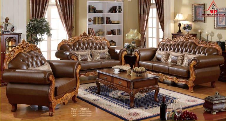 Ghế Sofa Phòng Khách Phong Cách Cổ Điển