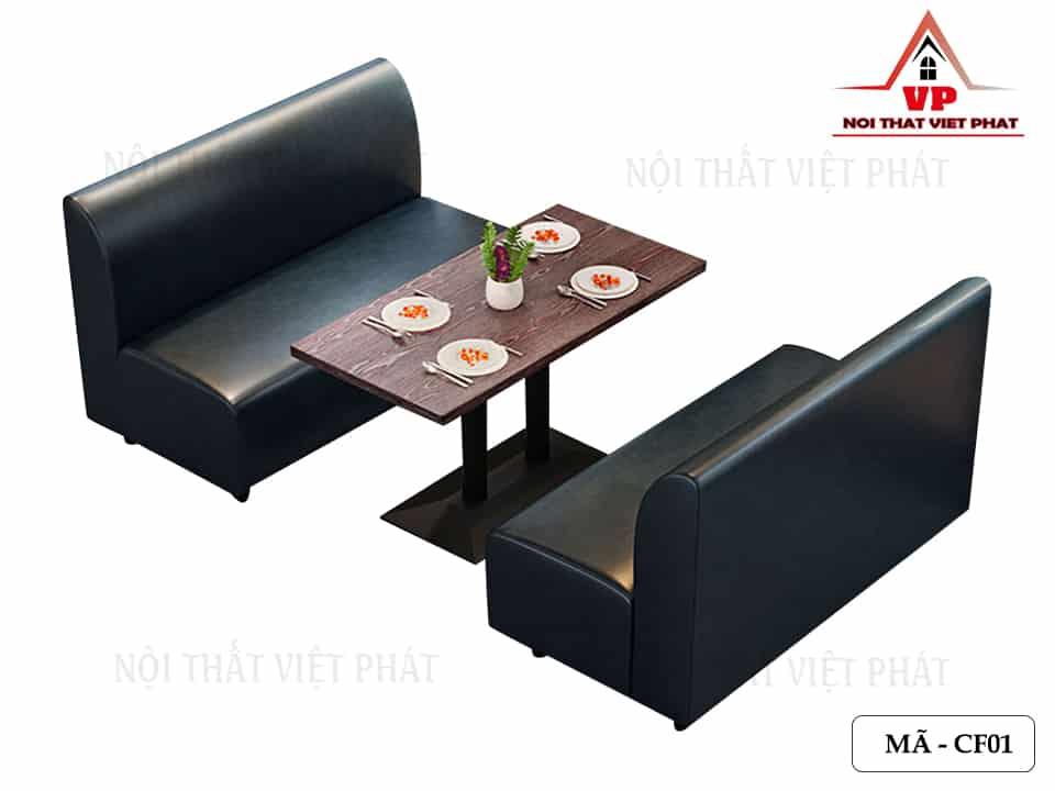 Sofa Cafe Bọc Da - Mã CF01