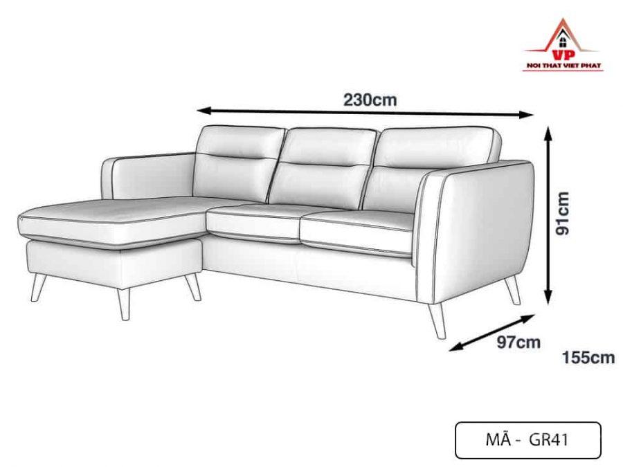 Ghế Sofa Chữ L Giá Rẻ - Mã GR41