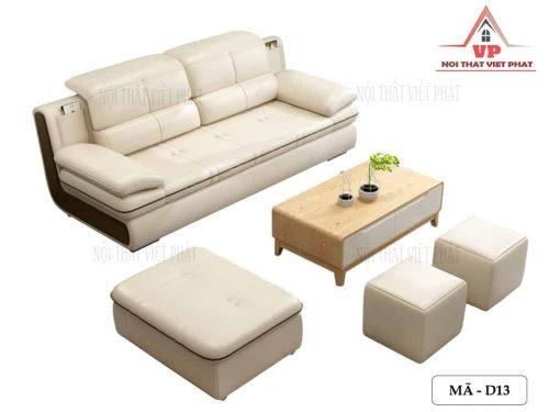 Sofa Da Màu Trắng - Mã D13