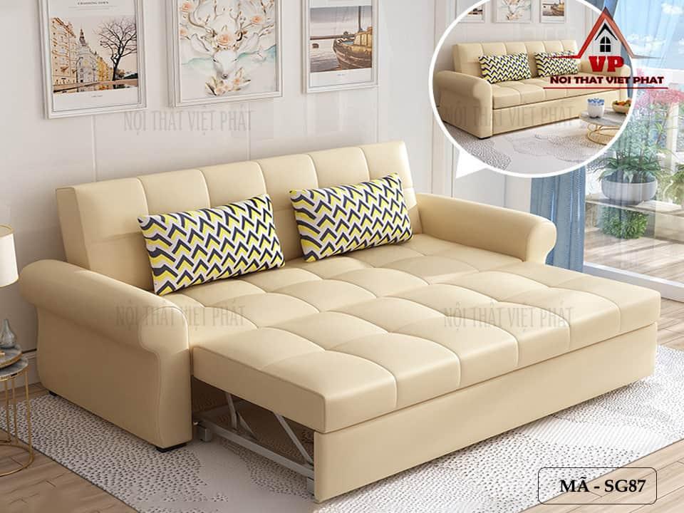 Ghế Sofa Giường Bọc Da Cao Cấp - Mã SG87