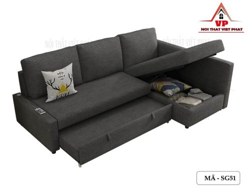 Sofa Giường Kéo Màu Đen - Mã SG51
