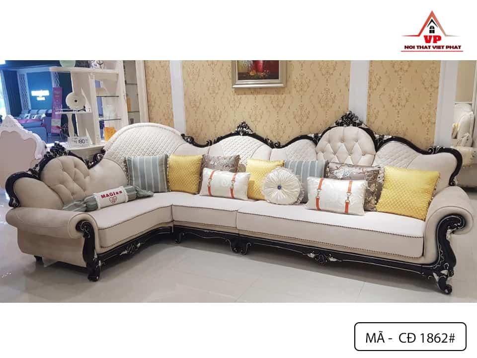Sofa Góc Cổ Điển Đẹp - Mã CĐ1862-1