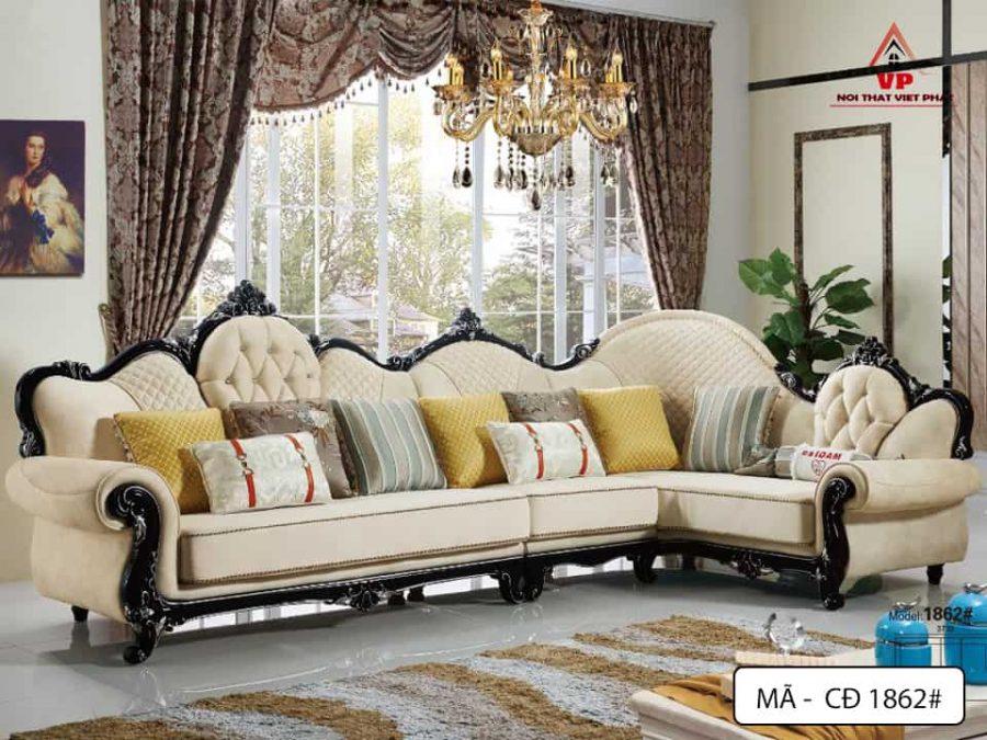 Sofa Góc Cổ Điển Đẹp - Mã CĐ1862