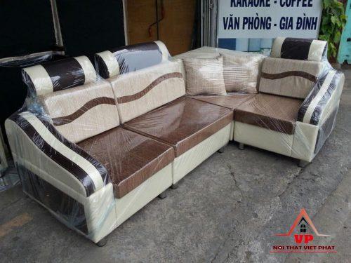 Sofa Góc Da Kết Hợp Vải - Mã G04