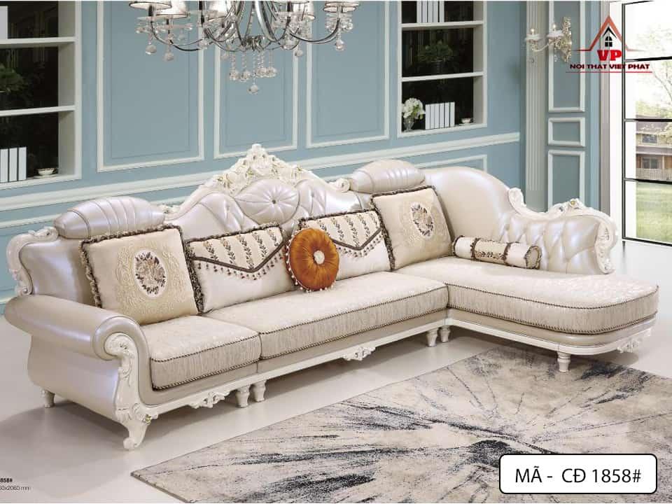 Sofa Phòng Khách Cổ Điển - Mã CĐ1858