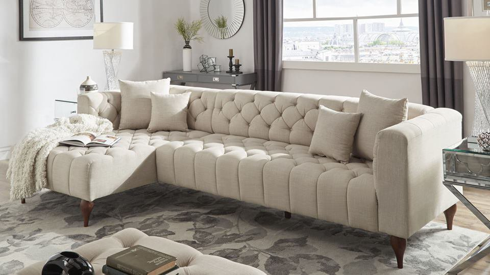 Ghế Sofa Phòng Khách Vải Xám - Mã PK38