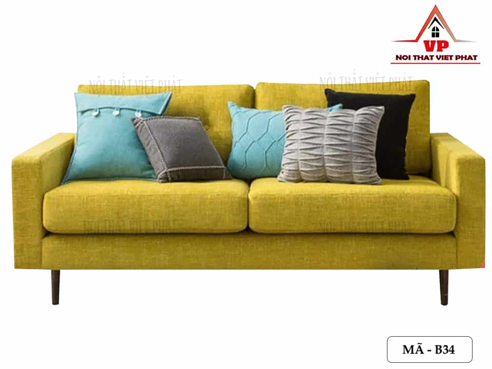 Ghế Sofa Đôi Màu Vàng - Mã B34